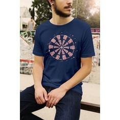 Majica Brain - navy plava